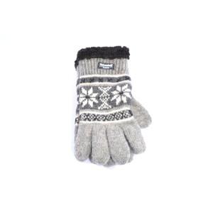 Grijze Noorse wollen handschoenen