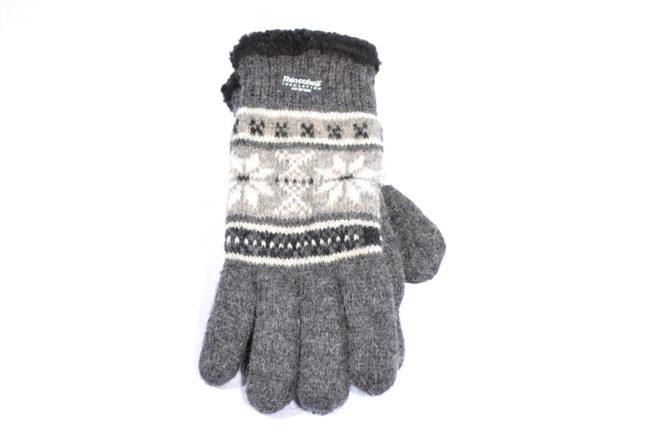 Zwarte Noorse wollen handschoenen