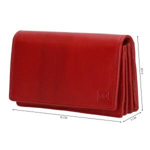Dames leren portemonnee rood 02C301