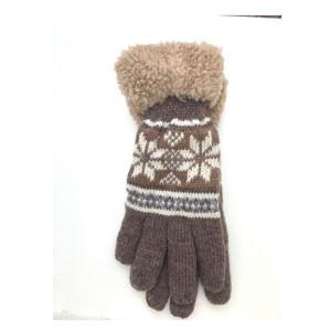 Noorse handschoen grijs/ bruin