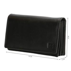 Dames leren portemonnee zwart 02C301