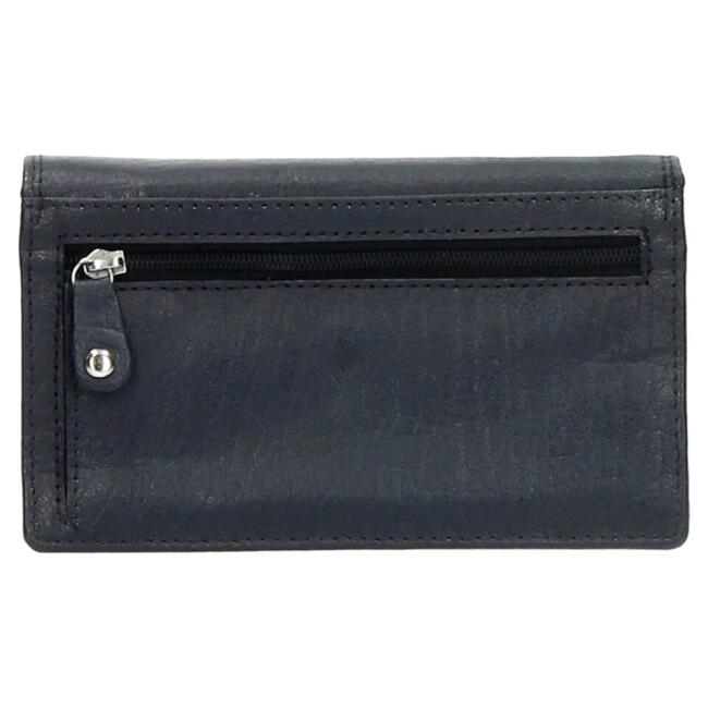 Dames leren portemonnee blauw