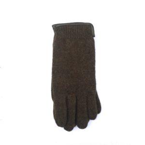 Wollen dames handschoen bruiin