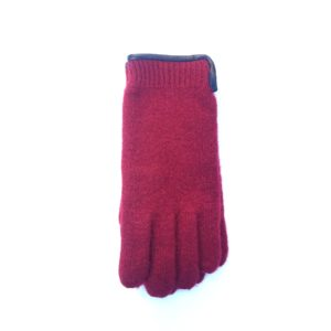 Wollen dames handschoen rood