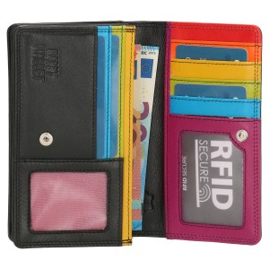Happy Wallet dames portemonnee harmonica zwart-3