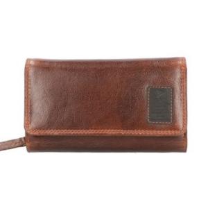 Gaz ruime portemonnee met rfid bescherming bruin