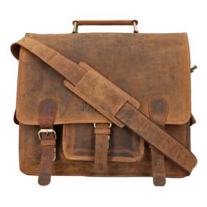 The Ratpack schoudertas 13 inch laptop bruin OF556