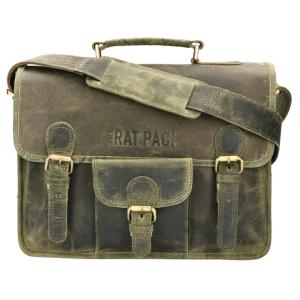 The Ratpack schoudertas 13 inch laptop groen OF556