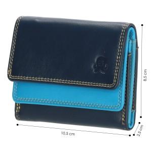 Happy Wallet kleine dames portemonnee blauw