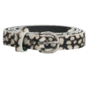 huidenriem cheetah zwart-wit 2 cm breed