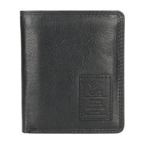 GAZ compacte heren portemonnee zwart