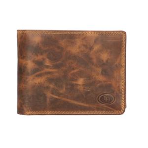 LD luxe heren portemonnee jachtleer bruin