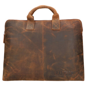 The Ratpack laptoptas/ laptophoes15.6 inch bruin OF555