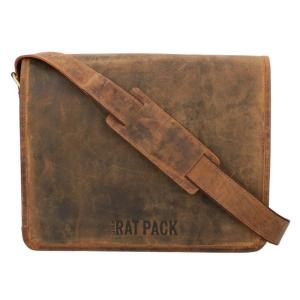 The Ratpack schoudertas 13 inch bruin OF554