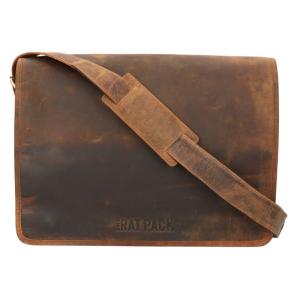 The Ratpack schoudertas 15.6 inch bruin OF554