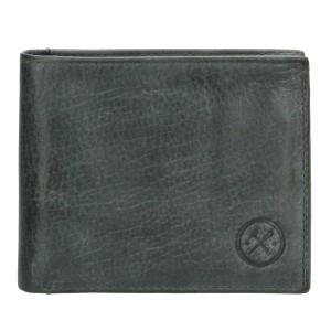 leren heren portemonnee grijs hide & stiches