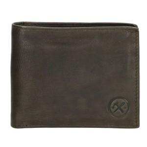 leren heren portemonnee groen hide & stiches