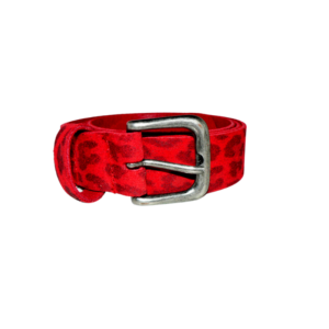riem 3 cm breed panter rood