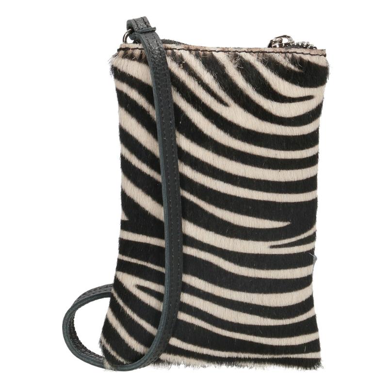 leren telefoontasje zebra print