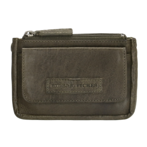 hide & stitches kleine portemonnee paintrock 18770 groen