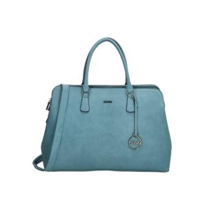 charm london bromley laptoptas 15.6 inch olijfgroen jeansblauw