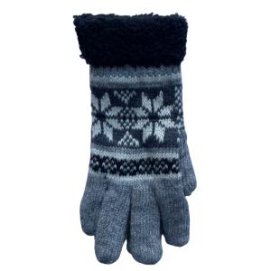 Noorse handschoen lichtgrijs