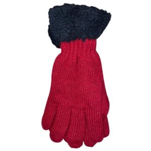 winter handschoenen wol rood 1